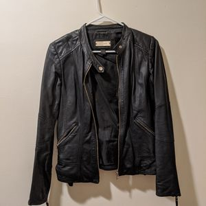 Danier leather jacket with gold hardware